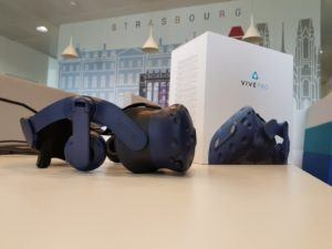 nouveau casque realite virtuelle htc vive showroom
